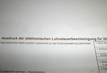 Elektronische lohnsteuerbescheinigung anfordern